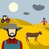Concetto piano dell'azienda agricola illustrazione vettoriale