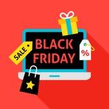 Concetto piano di Black Friday Immagini Stock Libere da Diritti