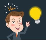 Concetto piano di disegno di idea di affari di progettazione di carattere Immagini Stock