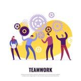 Concetto piano di lavoro di squadra royalty illustrazione gratis