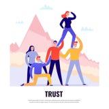 Concetto piano di lavoro di squadra illustrazione di stock