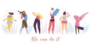 Concetto piano di vettore di stile di vita sano della donna illustrazione vettoriale