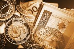 Concetto polacco commerciale di zloty Fotografia Stock Libera da Diritti