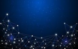 Concetto poligonale dell'innovazione di tecnologia di progettazione del fondo di vettore Immagini Stock