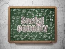 Concetto politico: Uguaglianza sociale sul fondo del consiglio scolastico Immagine Stock