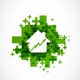 Concetto positivo aumentante di affari di prezzi della casa Fotografie Stock