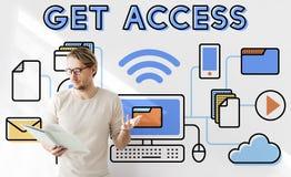 Concetto possibile aperto libero di disponibilità accessibile di Access Fotografia Stock Libera da Diritti