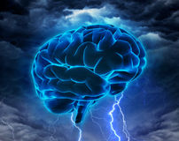 Concetto potente di intelligenza o di lampo di genio Immagine Stock Libera da Diritti