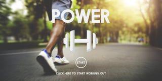 Concetto potente di talento di energia di abilità di forza di potere forte Immagini Stock