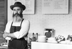 Concetto professionale degli apparecchi dell'uniforme del vapore del caffè del caffè immagini stock