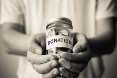 Concetto pubblico di evento di carità di donazione Immagine Stock Libera da Diritti