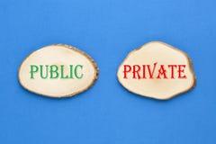 Concetto pubblico o privato fotografia stock libera da diritti
