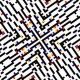 Concetto quadrato creativo Esposizione dello schermo di computer Manifesto astratto della carta da parati di progettazione del fo Fotografie Stock