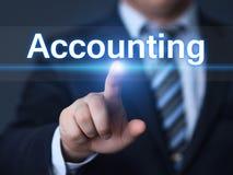 Concetto rapporto di attività bancarie di finanziamento di affari di analisi di contabilità Fotografie Stock Libere da Diritti