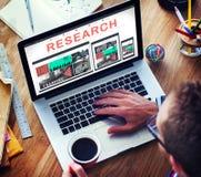 Concetto rapporto di domanda di conoscenza di informazioni di ricerca Immagini Stock