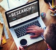 Concetto rapporto di domanda di conoscenza di informazioni di ricerca Fotografia Stock