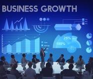 Concetto rapporto di vendita di analisi dei dati di crescita di affari immagini stock