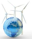Concetto rinnovabile della generazione di energia e di potere Fotografia Stock