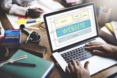 Concetto rispondente di idee di progettazione del homepage del sito Web immagine stock