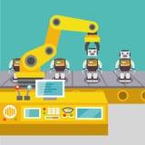 Concetto robot del braccio Immagine Stock Libera da Diritti