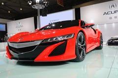 Concetto rosso di Acura NSX immagini stock