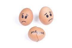 Concetto rotto di matrimonio Fotografie Stock