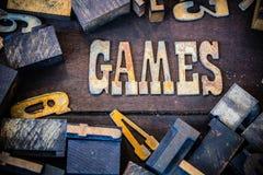 Concetto Rusty Type dei giochi fotografia stock libera da diritti