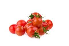 Concetto sano dell'alimento dei pomodori freschi sul fondo giallo della tavola fotografie stock libere da diritti