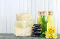 Concetto sano della stazione termale con le barre fatte a mano del sapone Immagine Stock Libera da Diritti