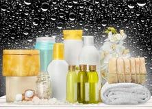Concetto sano della stazione termale con le barre fatte a mano del sapone Immagini Stock Libere da Diritti