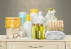 Concetto sano della stazione termale con le barre fatte a mano del sapone sopra Fotografia Stock Libera da Diritti