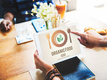 Concetto sano di alimentazione dell'alimento biologico Fotografie Stock