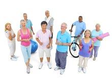 Concetto sano di forma fisica della gente del gruppo Immagini Stock