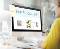 Concetto sano di nutrizione di stile di vita di benessere degli alimenti Fotografia Stock Libera da Diritti
