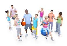 Concetto sano di rilassamento del corpo di sanità di forma fisica Fotografia Stock