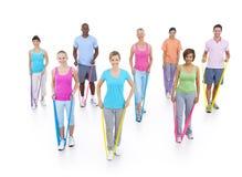 Concetto sano di sanità di forma fisica della gente del gruppo Fotografie Stock Libere da Diritti