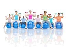 Concetto sano di sanità di forma fisica della gente del gruppo Fotografia Stock