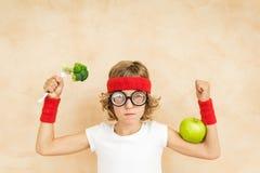 Concetto sano di stile di vita e di cibo Alimento vegetariano verde immagini stock libere da diritti