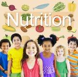 Concetto sano di vita di dieta di alimento di nutrizione Fotografia Stock