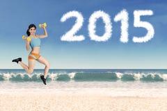 Concetto sano di vita nel 2015 Fotografie Stock Libere da Diritti