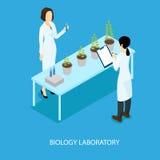 Concetto scientifico biologico isometrico di esperimento royalty illustrazione gratis