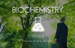 Concetto scientifico di ingegneria della genetica di biochimica fotografie stock