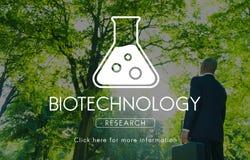 Concetto scientifico di ingegneria della genetica di biochimica fotografia stock libera da diritti