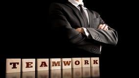 Concetto semplice di lavoro di squadra di affari Immagini Stock Libere da Diritti