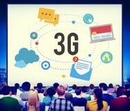 concetto senza fili di mobilità di telecomunicazioni del collegamento 3G Fotografia Stock Libera da Diritti