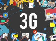 concetto senza fili di mobilità di telecomunicazioni del collegamento 3G Fotografia Stock