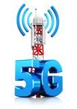 concetto senza fili di tecnologia della comunicazione 5G Fotografia Stock Libera da Diritti