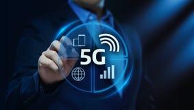 concetto senza fili mobile di affari di Internet della rete 5G illustrazione di stock