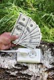 Concetto, simbolizzante investimento nell'energia verde Fotografia Stock