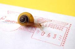 Concetto - snail mail Fotografie Stock Libere da Diritti